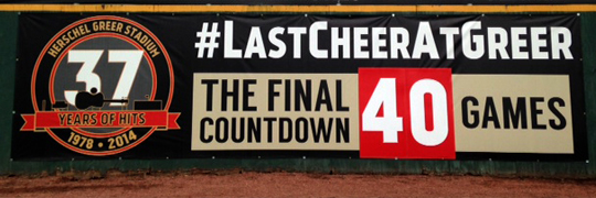 Last-Cheer-at-Greer-Stadium-The-Final-Countdown-Banner
