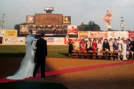 Mike-and-LeAnn-Henson-Wedding-at-Greer-Stadium-Nashville-Ceremony